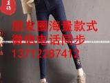 十元牛仔裤批发品牌女装 福建厦门厂家直销低价处理牛仔裤弹力裤