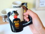 奥斯奇 创意水杯 四款3D立体动物陶瓷杯  新品马克杯厂家直销