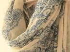 韩国秋冬青花瓷丝巾 超大纱巾 女空调围巾披肩两用超长 批发