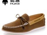 狐客2014春秋新品反绒皮休闲板鞋男士潮