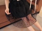 厂家直销2014夏季新款女装韩版时尚波点雪纺中长裙半身裙现货批发