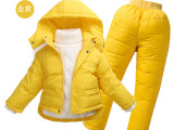 儿童羽绒服半岁男童女童宝宝套装厚两件套婴儿冬0-1-2-3反季清