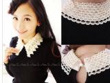 特价春季薄款 韩版珍珠水钻翻领针织打底衫 弹力修身低领毛衣 女