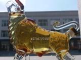 昂首牛造型玻璃酒瓶牛气冲天玻璃酒瓶空心牛造型工艺酒瓶玻璃酒瓶