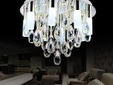 水晶灯圆形餐厅吊灯led水晶吊灯具现代简约餐吊灯卧室灯饰 17067