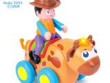 汇乐838B狂野小斗牛玩具 儿童益智电动动物 万向轮音乐灯光