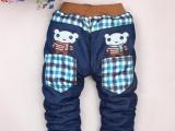 女童牛仔裤加厚童装裤子冬款儿童加厚长裤小