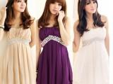 韩国新款可爱时尚雪纺连衣裙