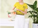 6元夏装新款彩色印花圆领T恤 韩版女装短袖t恤货源特价批发