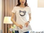 2014夏季新款气质纯棉修身心形烫钻短袖女T恤 地摊创业