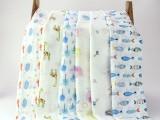 双层水洗纱布襁褓巾(彩色)