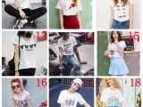 5.2块纯棉可白色韩版新款短袖T恤 齐码 可选款
