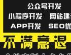 專業定制開發,公眾號、小程序、APP、網站、SEO