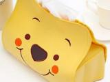 供应 厂家直销 可爱维尼熊 皮革纸巾抽 纸巾套 纸巾盒