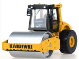 凯迪威合金工程车模型150单钢轮压路机 玩具车原厂仿真