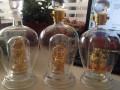 双层内置金佛造型玻璃酒瓶大肚金佛玻璃瓶内置弥勒佛造型工艺酒瓶