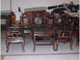 红连地 乌纹木沙发 勾椅沙发8件套 自