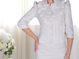 2013爆款热卖白色提花交叉式中裙半身裙OL裙职业裙一步裙包臀裙