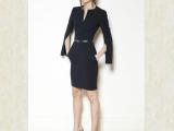 批发2013秋新款女欧美风性感修身袖子开叉包臀裙一步裙连衣裙
