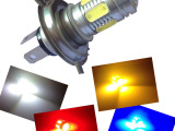 厂家直销 新款七面灯 LED大功率 H4 散光雾灯改装 汽车透镜
