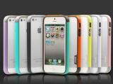 苹果iphone4s手机壳4色代多彩边框iPhone5TPU双色