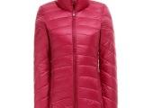 2014冬季新款 羽绒服正品轻薄修身立领 纯色短款羽绒服女款批发