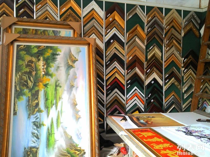 上海裱画 精致手工装裱 裱画配画框 唐卡十字绣裱框