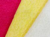 新款 精致小花蕾丝复合针刺刺绣 晴纶韩国绒针织面料 蕾丝面料