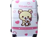 儿童万向轮拉杆箱 可爱小熊行李箱 男女卡通旅行箱 20寸登机箱