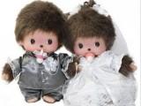 童话玩具蒙奇奇婚纱情侣洋娃娃公仔布娃娃婚礼礼品毛绒玩具批发