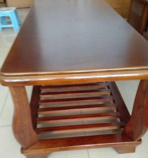 自用实木茶几+沙发一套350元