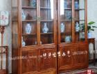 榆木玻璃展示柜