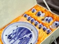 大埔漳联陶瓷 厂家直供 青花瓷13件套茶具套装批发