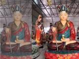 大乘佛教佛像厂家地藏王菩萨玻璃钢树脂佛像贴金彩绘