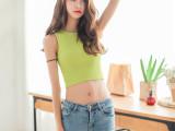 夏装新款韩版修身显瘦时尚性感露脐短款糖果色针织背心上衣女 夏