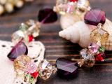 进口用奥地利紫色水晶手链手镯代购 **淘宝实体店奥地利串珠
