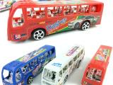城市巴士 公共汽车 小模型玩具 赠品 仿真内部结构 地摊热卖