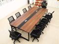 重庆现代大班台会议桌办公桌会议长桌长方形培训桌会议桌大电脑桌