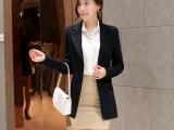 2015春装新款韩版修身小西装外套女中长款小西服休闲西装上班族