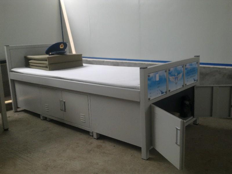 重慶軍用床雙層床鐵床軍官床消防戰士床文件柜更衣柜