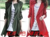 新款时尚气质女式风衣外套夏韩版显瘦修身休闲大码