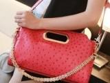 一件起批 夏季新品鸵鸟纹包 **手提单肩包彩色斜跨糖果色女包