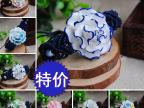 景德镇陶瓷饰品首饰中国特色民族风纯手工编织青花瓷花朵手链女生