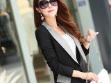 2015春装女装韩版潮修身中长款大码小西装女外套长袖西服女