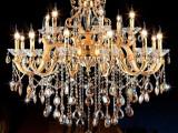 欧式灯具灯饰 锌合金水晶吊灯 客厅酒店工程蜡烛吊灯 厂家直销