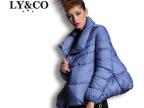 欧洲站2014冬装新款纯色百搭时尚宽松保暖外套女装羽绒服潮