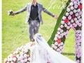 临汾90后个性婚纱照梦想城婚纱摄影基地