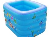 夏日宝贝120cm加厚方形婴儿充气游泳池 PD0221A五层宝宝