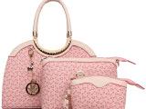 2014新款时尚印花三件套欧美大牌明星气质公文包 单肩包手包女包