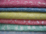 厂家直供女装服装面料 梭织提花布料 库存色织提花面料批发